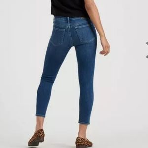 Lucky Brand Skinny Jeans Dark Wash High Rise Crop